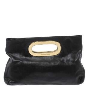 MICHAEL Michael Kors Black Leather Berkley Clutch