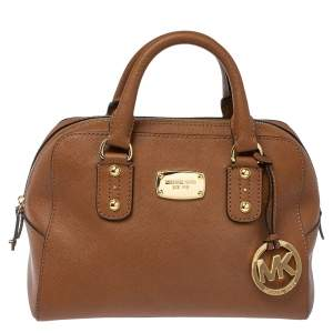 Michael Michael Kors Brown Leather Small Satchel