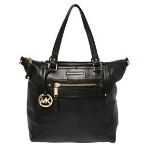 Michael Michael Kors Black Leather Gilmore North South Shoulder Bag