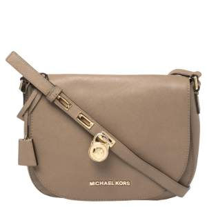 MICHAEL Michael Kors Brown Leather Large Hamilton Shoulder Bag