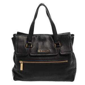 Michael Kors Black Leather Mackenzie Tote