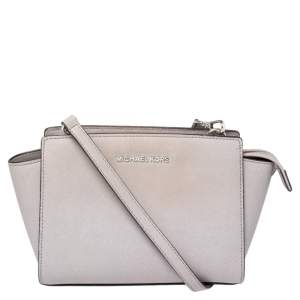 MICHAEL Micheal Kors Lavender Leather Small Selma Crossbody Bag