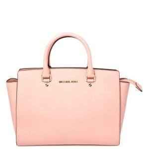 MICHAEL Michael Kors Pink Leather Large Selma Satchel