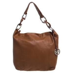 Michael Michael Kors Brown Leather Hobo
