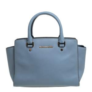 MICHAEL Michael Kors Blue Leather Medium Selma Satchel