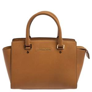 MICHAEL Michael Kors Brown Leather Selma Satchel