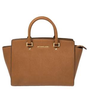 حقيبة يد مايكل مايكل كورس سيلما كبيرة جلد بنية
