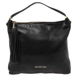 MICHAEL Michael Kors Black Leather Bedford Tassel Shoulder Bag