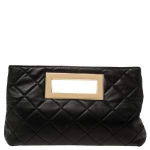 MICHAEL Michael Kors Black Quilted Leather Berkley Clutch