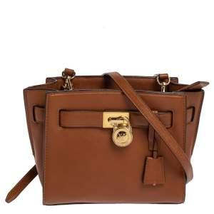 MICHAEL Michael Kors Brown Leather Hamilton Crossbody Bag