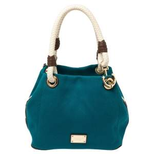 Michael Kors Blue Canvas Marina Grab Tote