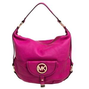 MICHAEL Michael Kors Fuchsia Leather Fulton Hobo