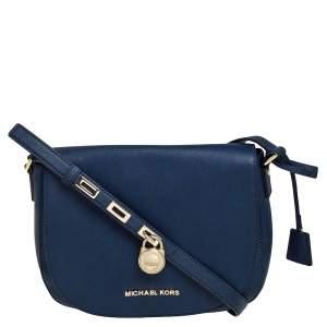 MICHAEL Michael Kors Blue Leather Large Hamilton Shoulder Bag