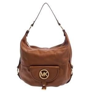MICHAEL Michael Kors Brown Leather Fulton Hobo