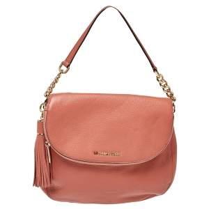 MICHAEL Michael Kors Peach Leather Bedford Shoulder Bag