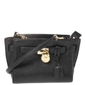 MICHAEL Michael Kors Black Leather Hamilton Crossbody Bag