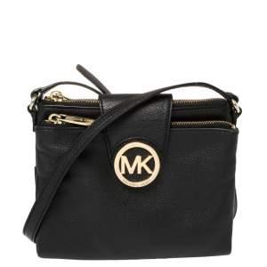 MICHAEL Michael Kors Black Leather Large Fulton Crossbody Bag