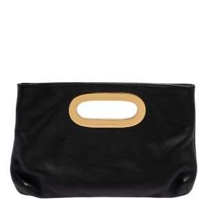 MICHAEL Michael Kors Black Pebbled Leather Berkley Clutch
