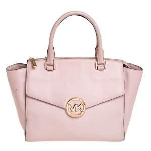 MICHAEL Michael Kors Pink Leather Hudson Satchel