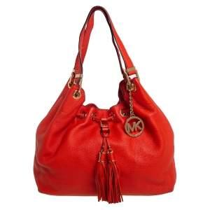 MICHAEL Michael Kors Orange Leather Camden Drawstring Shoulder Bag