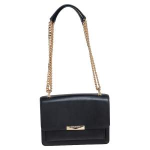 Michael Kors Black Leather Jade Crossbody Bag