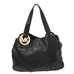 حقيبة يد توتس مايكل مايكل كورس فولتون جلد أسود
