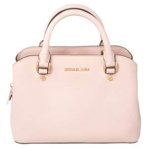 MICHAEL Michael Kors Pink Saffiano Leather Small Idina Satchel