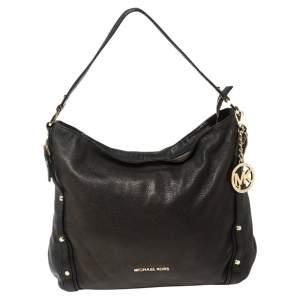 MICHAEL Michael Kors Black Leather Chain Handle Shoulder Bag