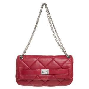 MICHAEL Michael Kors Red Leather Flap Shoulder Bag