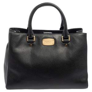 MICHAEL Michael Kors Black Leather Satchel