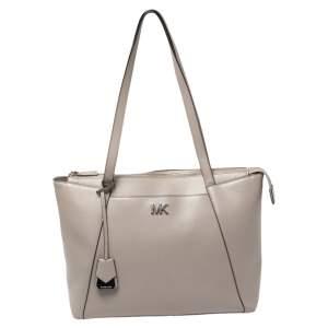 MICHAEL Michael Kors Grey Leather Medium Maddie Tote