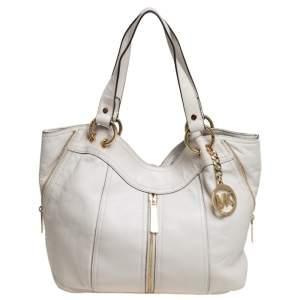 حقيبة يد مايكل كورس موكسلي جلد أبيض