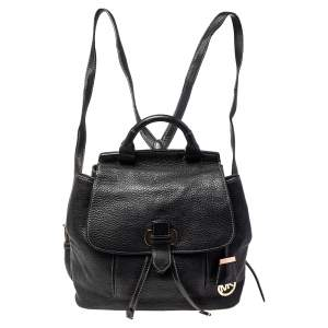 MICHAEL Michael Kors Black Leather Medium Romy Backpack