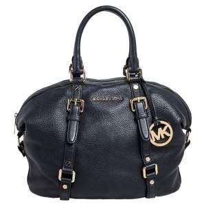MICHAEL Michael Kors Black Grained Leather Bedford Legacy Satchel