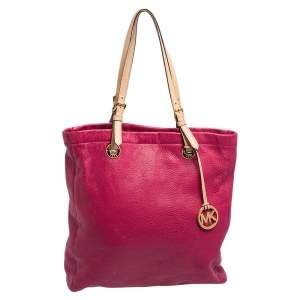 MICHAEL Michael Kors Magenta Leather North South Tote