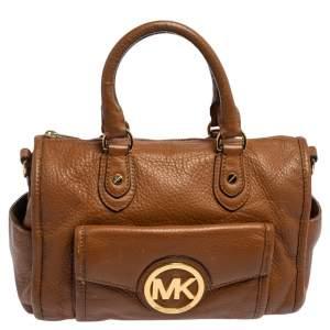 MICHAEL Michael Kors Brown Leather Margo Satchel