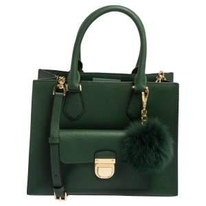 MICHAEL Michael Kors Green Leather Medium Bridgette Tote