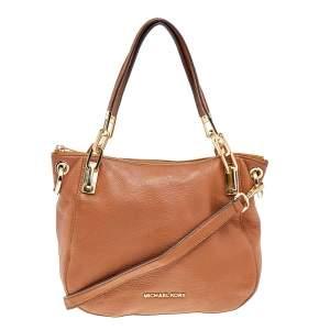 MICHAEL Michael Kors Brown Leather Brooke Shoulder Bag