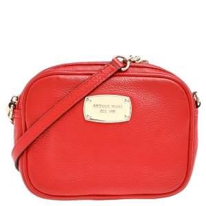 MICHAEL Michael Kors Red Leather Jet Set Crossbody Bag