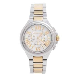 ساعة يد نسائية مايكل كورس MK5653  كميل ستانلس ستيل ثنائي اللون فضية 43 مم