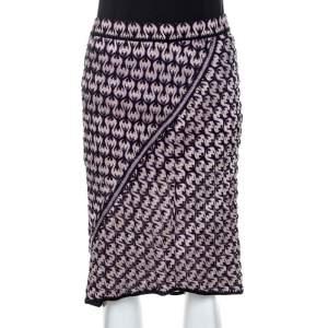 Missoni Multicolor Textured Jacquard Knit Midi Skirt M