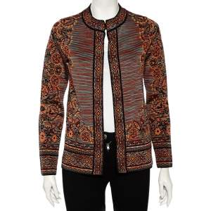 Missoni Multicolored Floral Patterned Knit Jacket S