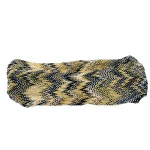 Missoni Navy Blue And Yellow Chevron Knit Headband