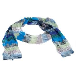 Missoni Multicolor Flame Knit Stole