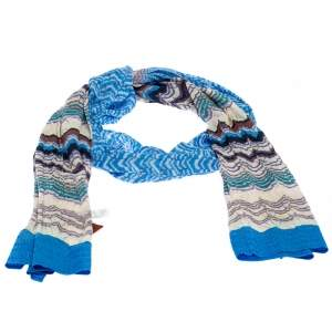 Missoni Multicolor Jacquard Pointelle Knit Scarf