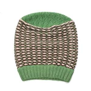 Missoni Green Patterned Wool Beanie