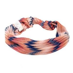 Missoni Orange Chevron Knit Headband
