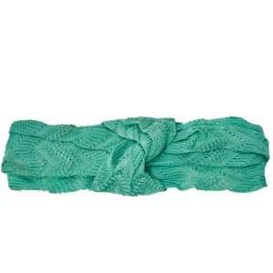 Missoni Green Knotted Crochet Knit Headband