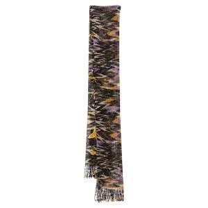 Missoni Multicolor Crochet Knit Lurex Scarf