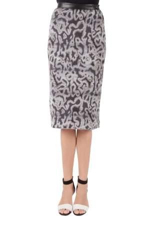Missoni Grey Jacquard Knit Midi Pencil Skirt S